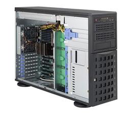 Supermicro SC 745TQ-R920\X10DRC-T4+\Dual Xeon E5-2690v4\128GB DDR4\4x10Gbit\s LAN\HW 3108 RAID\2x480GB SSD\3x1TB SATA3\2x920W