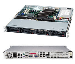 CSE-813MF2TQC-505\X11DPL-i\1xXeon 4208\16GB DDR4 ECC\2x240GB SSD Intel S4510\2xGLAN\500W