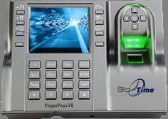 Биометрический терминал учета рабочего времени и контроля доступа BioTime FingerPass V8