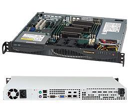 Supermicro CSE-512F-350/X11SSl-F/Xeon E3-1220v6/8GB RAM DDR4 ECC/2x1TB HDD/2xGLAN/350W