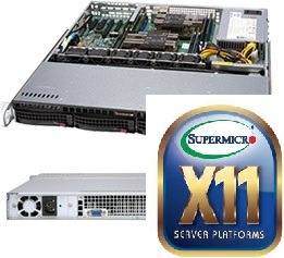 Supermicro CSE 813MFTQC-505CB/X11DPl-i/2xXeon Silver 4110/64GB DDR4 ECC/MR9361/4x300GB SAS 10K/500W