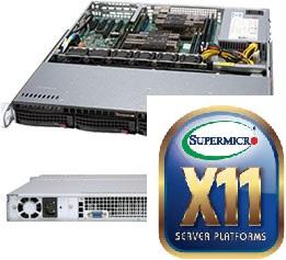 Supermicro CSE 813MFTQC-505CB/X11DPl-i/1xXeon Bronze 3106/32GB DDR4 ECC/2x1TB SATA/500W
