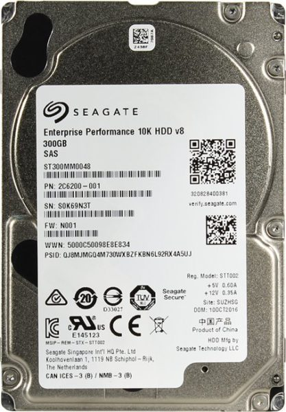 HDD 300GB 10K 2.5″ 128Mb SAS 12Gb/s Seagate Enterprise Performance  ST300MM0048. Толщина 15 мм