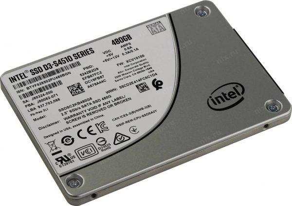 SSD 480GB Intel D3-S4510 SATA SSDSC2KB480G801