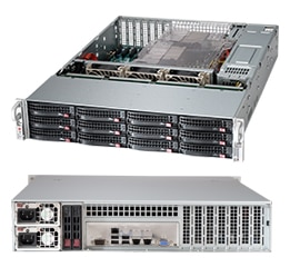 CSE-826BE1C-R920\X11DPL-i\1xXeon Silver 4214\32GB DDR4 ECC\2x480GB SSD Intel S4510\RAID MR9361\2x920W