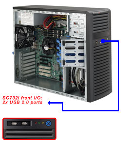 Supermicro CSE-732i-500/X11SCL-F/Xeon E2124/16GB DDR4/2x1TB Exos 7E2/2xGLAN/500W