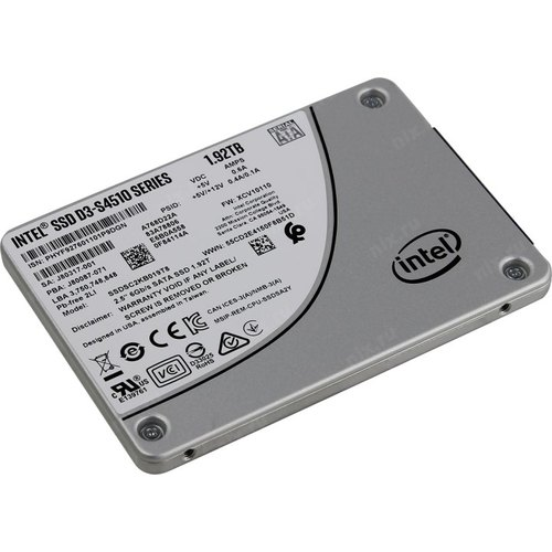 SSD 1.92TB Intel D3-S4510 Series (1.92TB, 2.5in SATA 6Gb/s, 3D2, TLC)